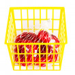 Groceries in basket — Stock Photo
