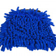 Blue microfiber duster - Stock Photo