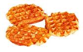 Three belgian waffles — Stock Photo