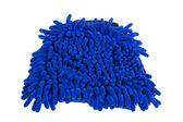 Blauwe microfiber stofdoek — Stockfoto