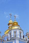 Russian orthodox church cupolas — Stock Photo