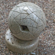 Grey granite ball — Stock Photo