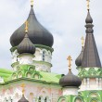 Russian orthodox church cupolas — Stock Photo #3341722