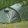 Stock Photo: Green tent