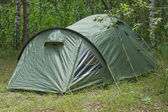 Green tent — Stock Photo