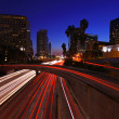 Stock Photo: Los Angeles Freeway at Night