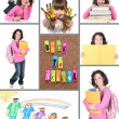 Colorful Back to School Collage — Stock Photo #3675602