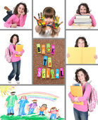 Colorful Back to School Collage — Stock Photo