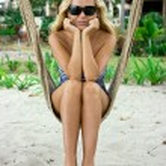 Girl on rope swings — Stock Photo #2860795
