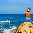 Stock Photo: Girl at the ocean
