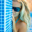 Royalty-Free Stock Photo: Blonde in the pool