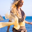 Blonde girl with shawl — Stock Photo #2861222