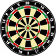 Vector dart board — 图库照片