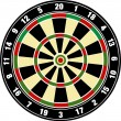Vector dart board — Stock fotografie