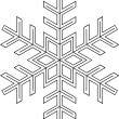 Snowflake shape — Stock Photo #2863703