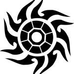 Tattoo sun — Stock Photo