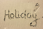 Holiday on sand — Stockfoto