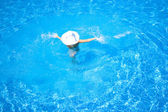 In the pool — Stockfoto