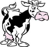 Cartoon cow — Stock Photo