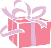 Gift parcel — Stock Photo