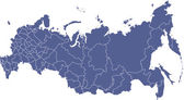 Russian regions vector map — Stock Photo