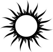 Tattoo sun — Stock Photo
