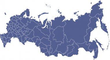 Russian regions map