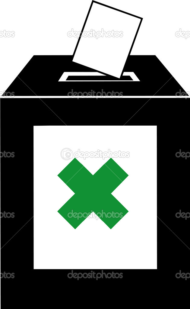 Vector illustrated ballot box on white background — Stock Photo #2861446