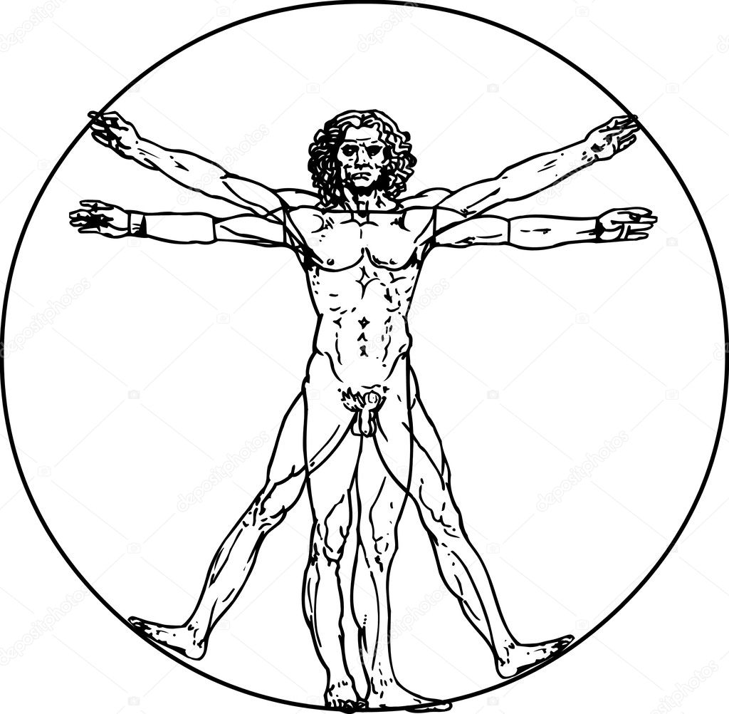 Leonardo da Vinci's vitruvian man in vector — Stock Photo #2861540