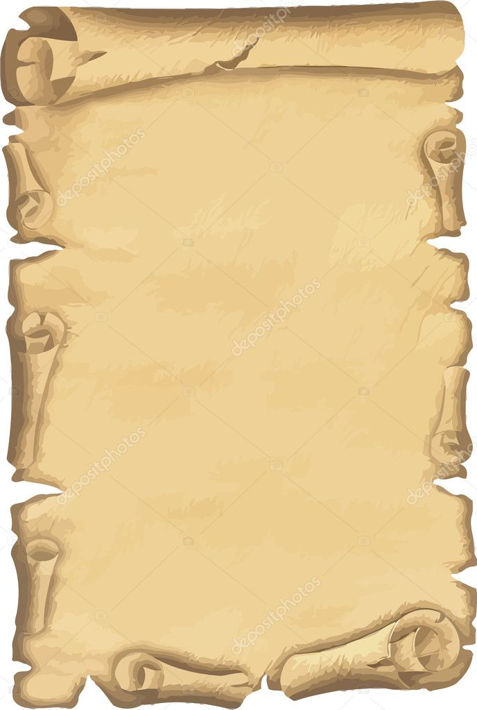 Vector illustrated old paper isolated — Stock Photo #2863576