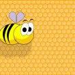Funny bee — Stock Photo #3295852