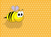Funny bee — Stock Photo