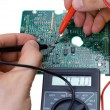 Printed circuit board and multimeter — Stock Photo #2734842