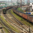 Freight cars on cargo terminal — Stock Photo