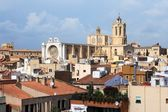 Tarragona cathedral view from Praetorium — Stock Photo