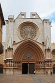 Tarragona cathedral facade — Stock Photo