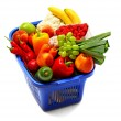 A shopping basket full of fresh produce — Stock Photo #2889758