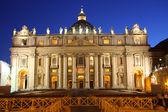 Saint Peter's Basilica at night — Stock Photo
