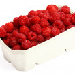 Fresh red raspberries isolated — Stock Photo