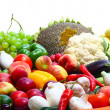 Fresh vegetables and fruits - Stock Photo
