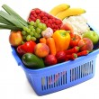 A shopping basket full of fresh produce — Stock Photo #2976988