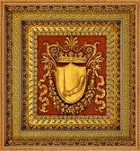 金色盾牌 — 图库照片