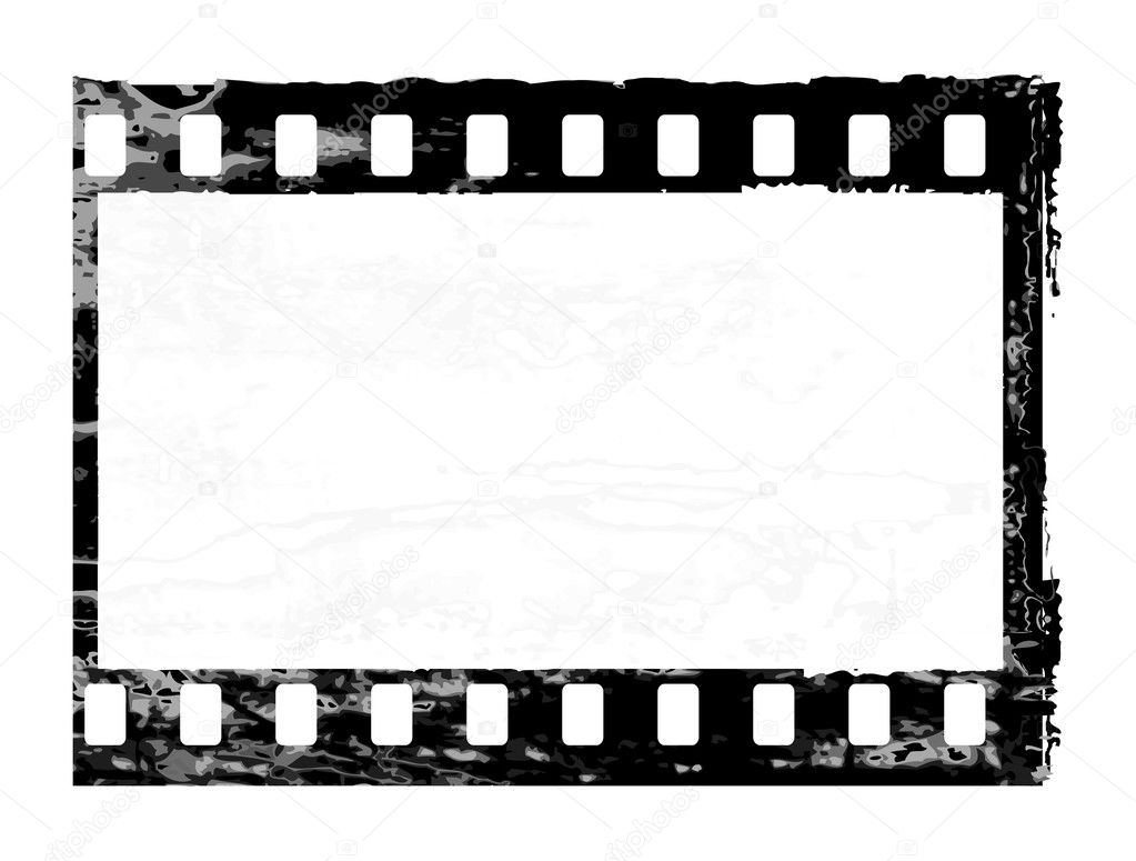 Aged vector illustration of a grunge filmstrip frame. — Stock Vector #2976869