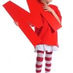 """Letter """"M"""" girl — Stock Photo"""