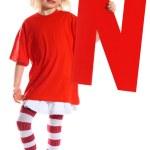 """Letter """"N"""" girl — Stock Photo"""