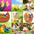 Traditional Easter - themed collage — Stock Photo