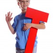 "Letter ""T"" boy — Stock Photo #3002861"