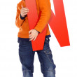 "Letter ""W"" boy — Stock Photo #3002892"