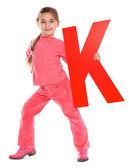 """Letter """"K"""" girl — Stock Photo"""
