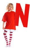 "Letter ""N"" girl — Stock Photo"